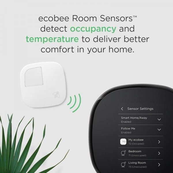 ecobee4 Alexa-Enabled Thermostat with Sensor